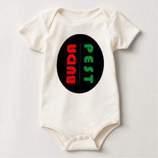 Budapest minimalist - circle - 01 baby bodysuit