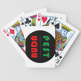 Budapest minimalist - circle - 01 bicycle playing cards