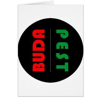 Budapest minimalist - circle - 01 card