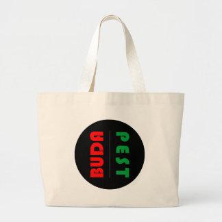 Budapest minimalist - circle - 01 large tote bag