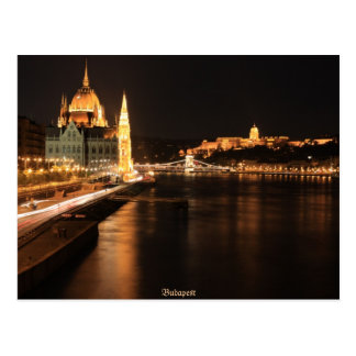 Budapest night in april 2012 postcard