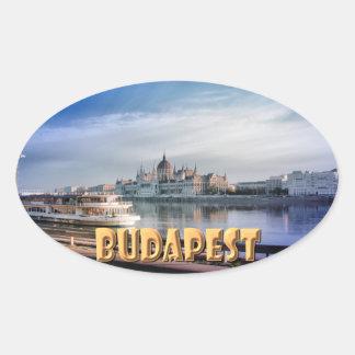 Budapest Oval Sticker