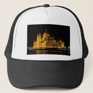 Budapest Parliament At Night Trucker Hat