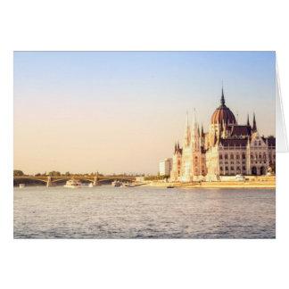 Budapest parliament card