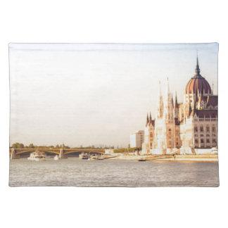 Budapest parliament placemat