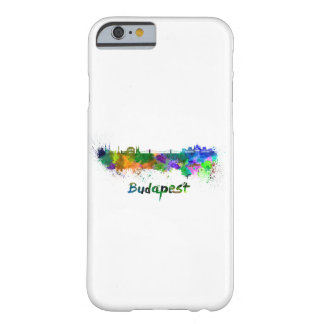 Budapest skyline in watercolor barely there iPhone 6 case