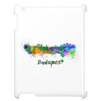 Budapest skyline in watercolor iPad cover