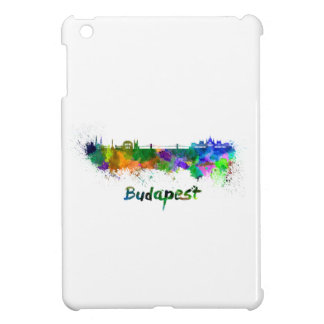 Budapest skyline in watercolor iPad mini case
