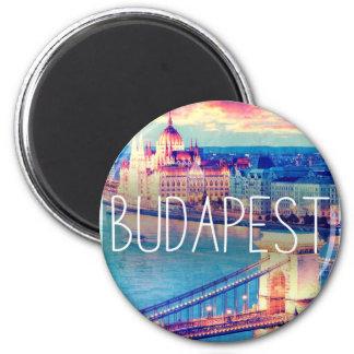 Budapest, vintage poster magnet