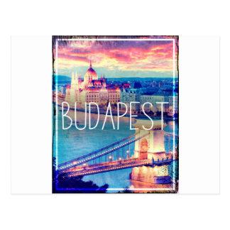 Budapest, vintage poster postcard