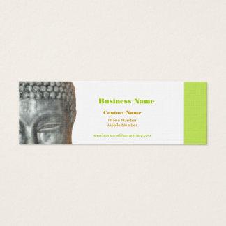 Buddah head, gold, black business card