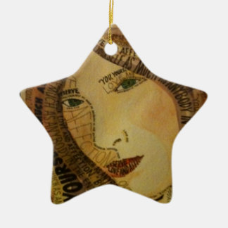 Buddah quote ceramic star ornament