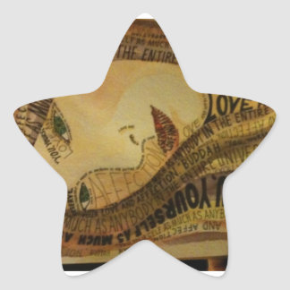 Buddah quote star sticker