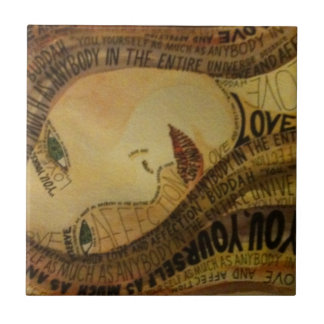 Buddah quote tile