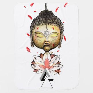 Buddah Watercolor Swaddle Blanket