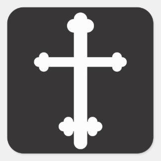 Budded Cross Square Sticker