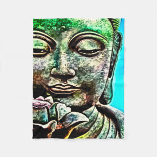 Buddha Airbrush Art Fleece Blanket