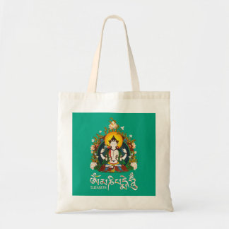 Buddha Amitabha Om Mani Padme Hum Tibetan Design. Tote Bag