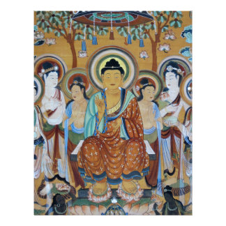 Buddha and Bodhisattvas Dunhuang Mogao Caves Art Letterhead