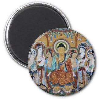 Buddha and Bodhisattvas Dunhuang Mogao Caves Art Magnet