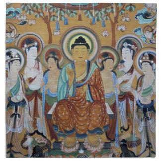 Buddha and Bodhisattvas Dunhuang Mogao Caves Art Napkin