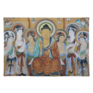 Buddha and Bodhisattvas Dunhuang Mogao Caves Art Placemat