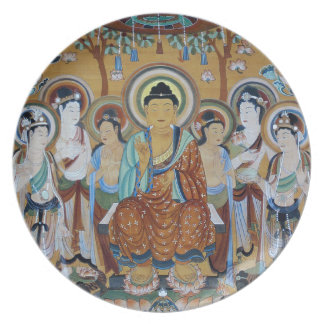 Buddha and Bodhisattvas Dunhuang Mogao Caves Art Plate