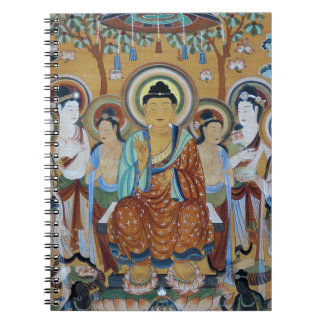 Buddha and Bodhisattvas Dunhuang Mogao Caves Art Spiral Notebook