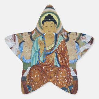 Buddha and Bodhisattvas Dunhuang Mogao Caves Art Star Sticker