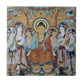 Buddha and Bodhisattvas Dunhuang Mogao Caves Art Tile