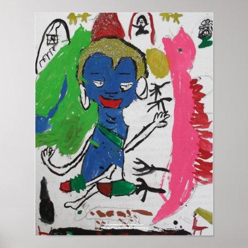 Buddha and Dragon Poster
