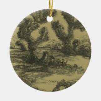 Buddha and Joshua Trees Art Ornament