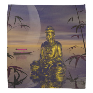 buddha and moon bandana