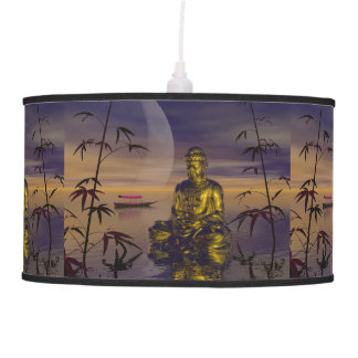 buddha and moon ceiling lamp