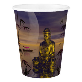 buddha and moon paper cup
