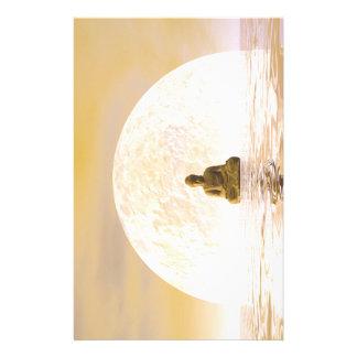 Buddha and moon stationery