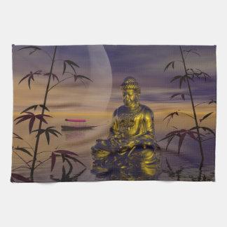 buddha and moon towels