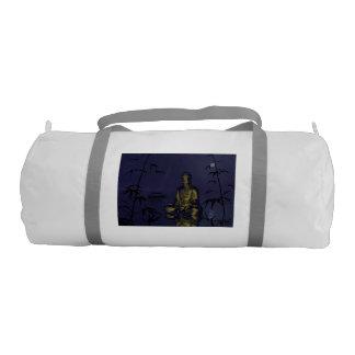 buddha and night gym bag