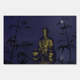 buddha and night sign