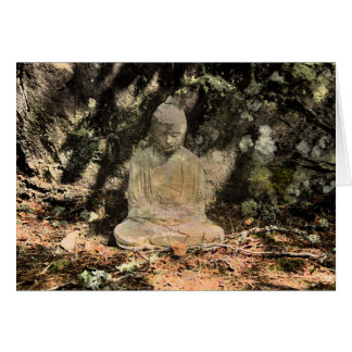Buddha and Shadows Card