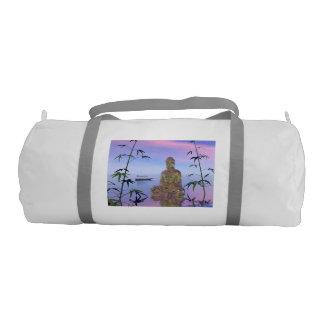 buddha and sky blue gym bag