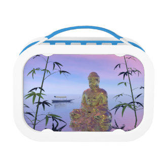buddha and sky blue lunchboxes