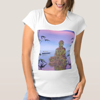 buddha and sky blue maternity T-Shirt