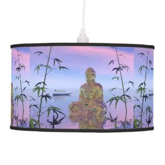 buddha and sky blue pendant lamp