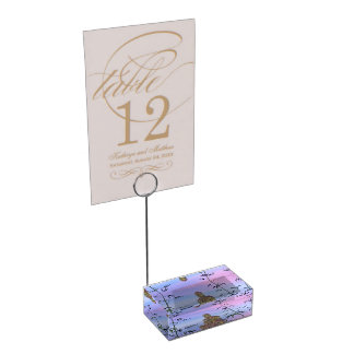 buddha and sky blue table number holder