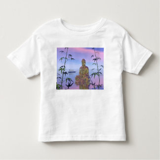 buddha and sky blue toddler t-shirt