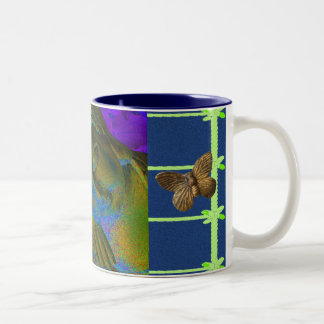 Buddha and the Butterflies Two-Tone Coffee Mug