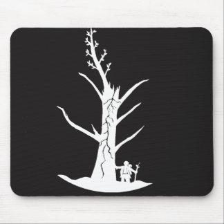 Buddha and tree mouse pad