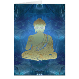 Buddha applied (blue) card