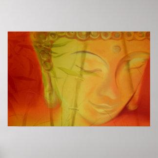 Buddha &Bambus Poster